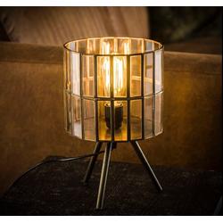 Livin24 Tischlampe Abby 1-flammig Dreibein Bronze