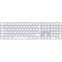 Apple Magic Keyboard mit Touch ID und Ziffernblock für Mac mit Apple Chip + Bluetooth Deutsch Aluminium Weiß