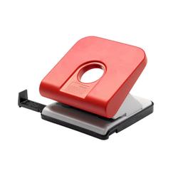 Novus Master Bürolocher, Für Papierstapel bis 25 Blatt Standardpapier (80 g/m²), Farbe: rot