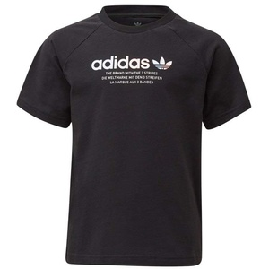 adidas Unisex-Child Tee T-Shirt, Black, 6 Years