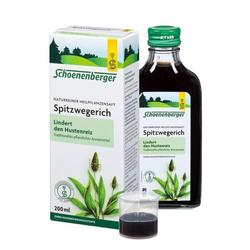 SPITZWEGERICHSAFT Schoenenberger 200 ml