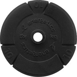ENERGETICS Hantelscheiben Gusseisen 1 x 10 kg, 1 x