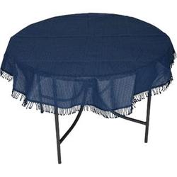 DEGAMO Tischdecke aus Kunststoff 160cm rund, blau, wetterfest
