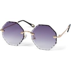 styleBREAKER Sonnenbrille Rahmenlose Runde Sonnenbrille mit Diamant Schliff Getönt