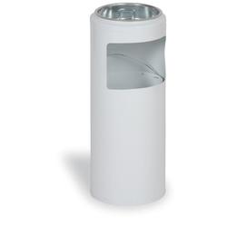 Außenaschenbecher aus metall 10 liter, weiß