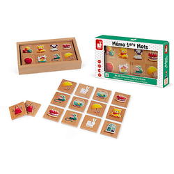 Gedächtnisspiel Memo 40 Teile, Holz