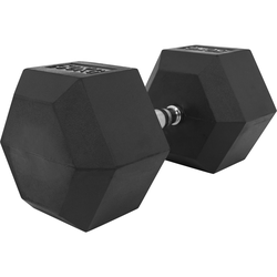 Hexagon Kurzhantel aus Gummi 50 kg