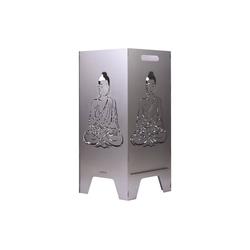 Feuertonnen Bertling Feuerschale XL Feuertonne mit Buddha Motiv Feuerkorb Feuerschale Feuerstelle 80 cm