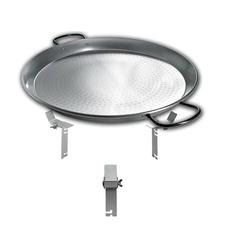 PAN BBQ Set - für Smokin Pizzaring: 47 / 50cm - die XXL Pfanne füre Paelle, Reibekuchen und vieles mehr