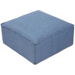 CLP Sitzwürfel Nantes, Samt oder Stoff blau