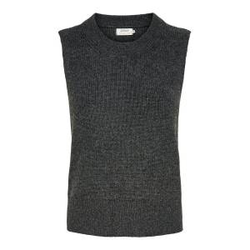 ONLY Gestrickter Weste Damen Grau Female L