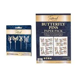 CREATE AND CRAFT Tattered Lace Schablonen-Set Schmetterlingsstecker 20tlg.
