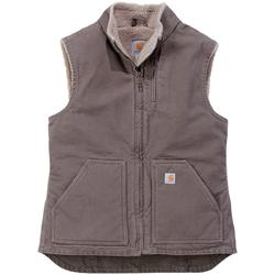 Carhartt Arbeitsweste Sandstone Mock Neck Vest mit weichem Sherpa-Futter braun M