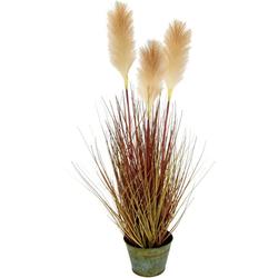Kunstpflanze Pampasgras, I.GE.A., Höhe 75 cm, Im Metalltopf