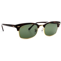 Ray Ban Clubmaster Square RB3916 130431 52-20 polished mock tortoise/green