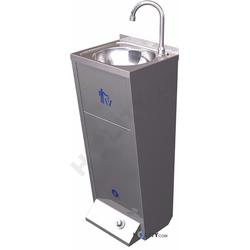 Handwaschbecken aus Edelstahl mit Mülleimer h21885