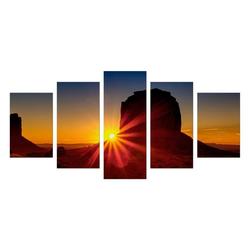 Bilderdepot24 Leinwandbild, Leinwandbild - Panorama Sunrise - Panorama Sonnenaufgang 100 cm x 50 cm