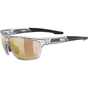 uvex Unisex – Erwachsene, sportstyle 706 CV V Sportbrille, kontrastverstärkend, selbsttönend, clear/red, one size