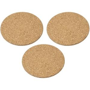3 Stück Set feine große runde Kork-Untersetzer aus unbehandeltem Kork - 19,5 cm Durchmesser, 1 cm Dick, hohe Qualität, feinste Verarbeitung