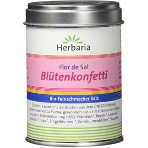 Herbaria Blütenkonfetti - Flor de sal Gewürzsalz, 1er Pack (1 x 60 g Dose)
