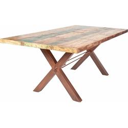 SIT Esstisch Tops, aus recyceltem Altholz braun 220 cm x 78 cm x 100 cm