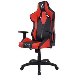 miweba Gaming-Stuhl Elite Predator Racing Optik, Stuhl 360 Grad drehbar, Stufenlose Wippmechanik rot
