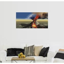 Posterlounge Wandbild, Ein aktiver Vulkan bricht aus 80 cm x 40 cm