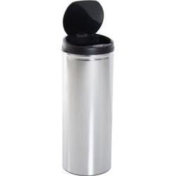 HOMCOM Abfalleimer mit IR Sensor und Inneneimer silber 30,5 x 30,5 x 85,5 cm (LxBxH)   Auomatik Mülleimer Kücheneimer mit Sensor Abfall