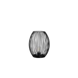 Glas Koch Laterne Posto in schwarz, 24 cm