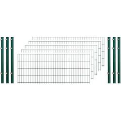 Arvotec Doppelstabmattenzaun, 5 Stk., LxH: 10x0,8 m, grün
