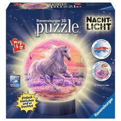 Ravensburger 3D-Puzzle Pferde Am Strand - Puzzle-Ball, Nachtlicht, 72 Puzzleteile