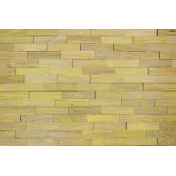 Wodewa 3D Wandpaneel Berlin - Vintage 012, BxL: 20x5 cm, 1 qm, (Set, 100-tlg) mit 3D-Effekt, geölt, gelb