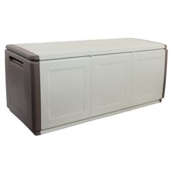 Aufbewahrungsbox mit deckel aus kunststoff, 1380 x 570 x 530 mm, beige