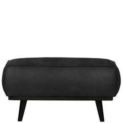 Couchhocker in Schwarz Kunstwildleder 80 cm breit