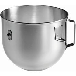 Bartscher K45 Schüssel für KitchenAid, Edelstahlschüssel für KitchenAid 5KPM5EWH Küchenmaschine, Fassungsvermögen: 4,83 Liter