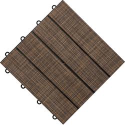 florco® Terrassenplatten Tex, 30x30 cm, 6-St., Klickfliesen