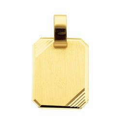 Adelia´s Kettenanhänger 333 Gold Gravurplatte Anhänger