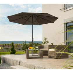 Schneider Schirme Sonnenschirm Korsika, ohne Schirmständer braun