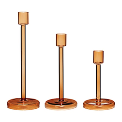 Hübsch Kerzenständer Bernstein 3er-Set