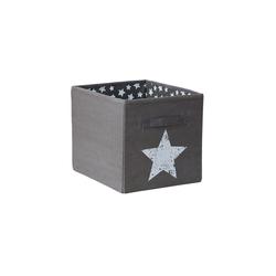 "STORE IT! Aufbewahrungsbox Aufbewahrungsbox ""Stern"", 32x32x38 cm grau"