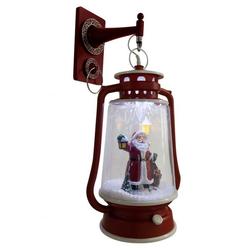 Schneiende LED-Laterne rot Santa 35 cm