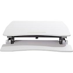 Alba Sitz-Steh Workstation für 1 Bildschirm Höhenverstellbar 150 - 500 mm Weiß