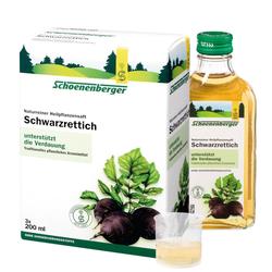 Schwarzrettich naturreiner Heilpflanzensaft Schoenenberger