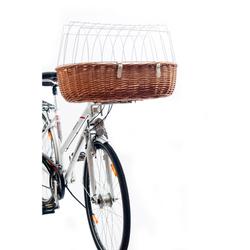 Hundefahrradkorb Steuerkopfmontage vorne von Aumüller, Maxi, L 70 cm x B 46 cm x H 18/40 cm, Steuerkopfmontage vorne, belastbar bis 12 kg