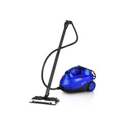 COSTWAY Dampfreiniger Bodendampfreiniger, mit 19 Zubehörteilen, für Teppiche, Fußböden, Fenster und Autos / 2000W / 4 Bar / 1,5L Tank/bis 108℃ / LED/Dampfzeit bis 45 Min. (Blau)
