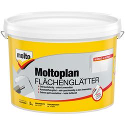 Molto Fertigspachtel Flächenglätter Moltofill, gebrauchsfertig, weiß, 5 kg