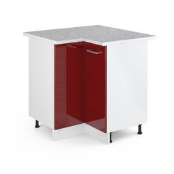 Vicco Eckunterschrank 87 cm mit Arbeitsplatte Küchenschrank Unterschrank Küchenunterschrank R-Line Küchenzeile rot