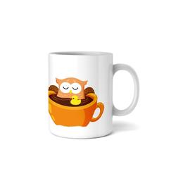 Kreative Feder Tasse, Tasse mit Motiv, Keramiktasse, fasst ca. 300ml, Kaffe, Tee, Bürotasse, Büro, Eule, Spruch, Humor, witzig