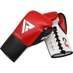 RDX C2 BBBofC Zugelassene Kampf Boxhandschuhe (Größe: 10 Unzen, Farbe: Weiß)