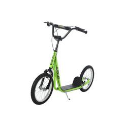 HOMCOM Scooter Kinderscooter mit Handbremse grün
